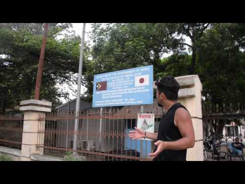 アキーラさん解説!東ティモール・ディリ・日本からのODA援助に対しての感謝の碑!ODA support from Japan in Dili in East Timor