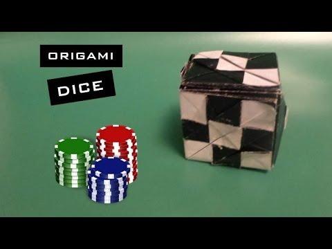 Origami Dice Tutorial By Tanaka Masashi Youtube