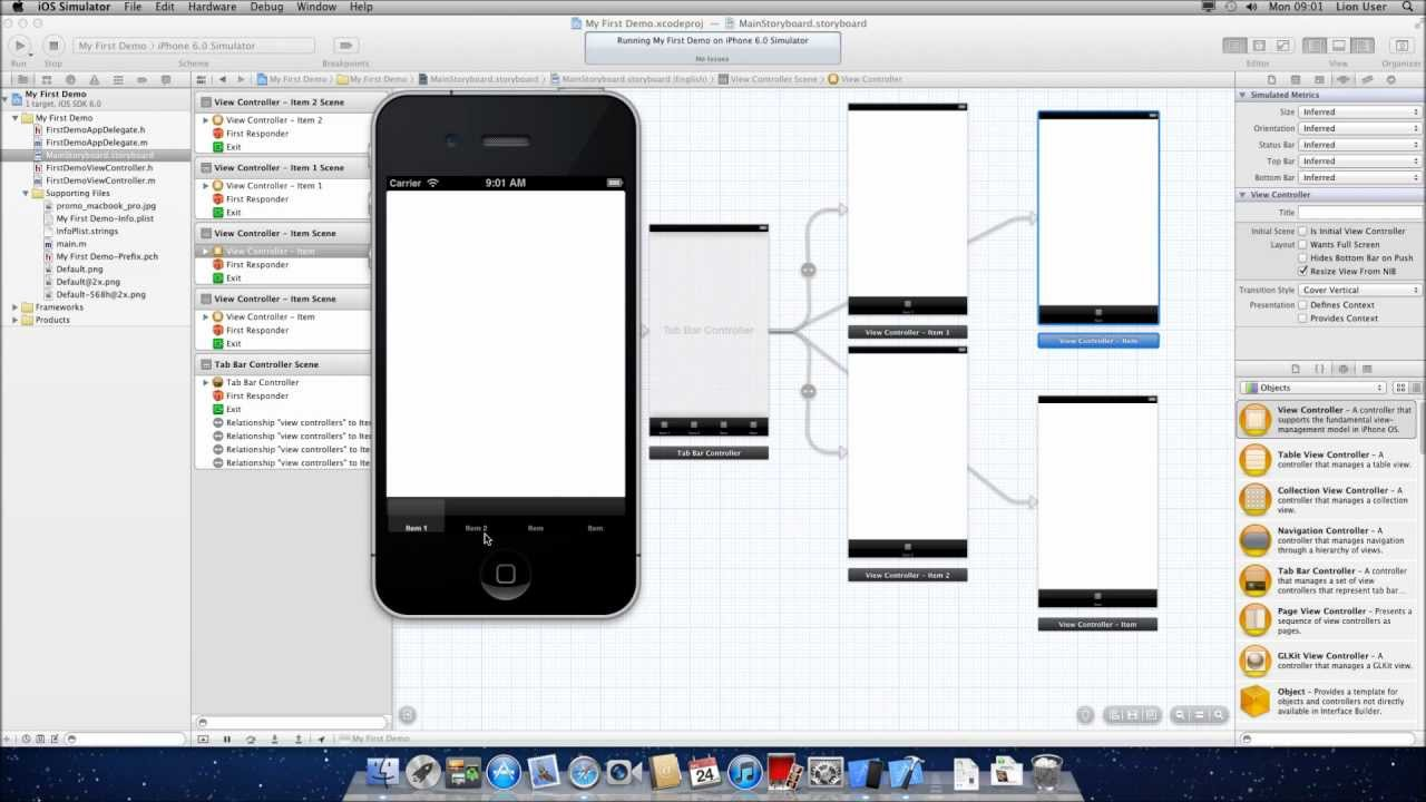 How To: Create Tabbed Tab Bar Navigation iPhone iOS ...