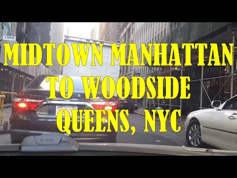 4/15/16 Driving from Midtown Manhattan to Woodside Queens, NYC