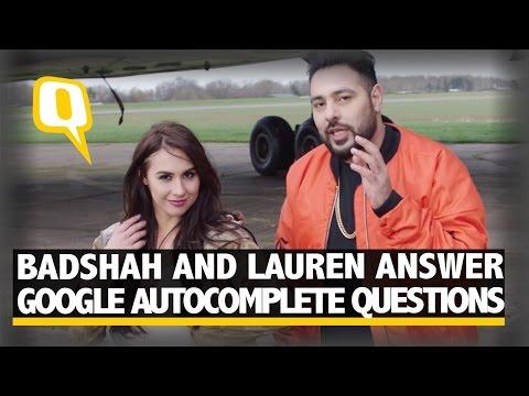 The Quint: Badshah And Lauren Gottlieb Answer Google Autocomplete Questions