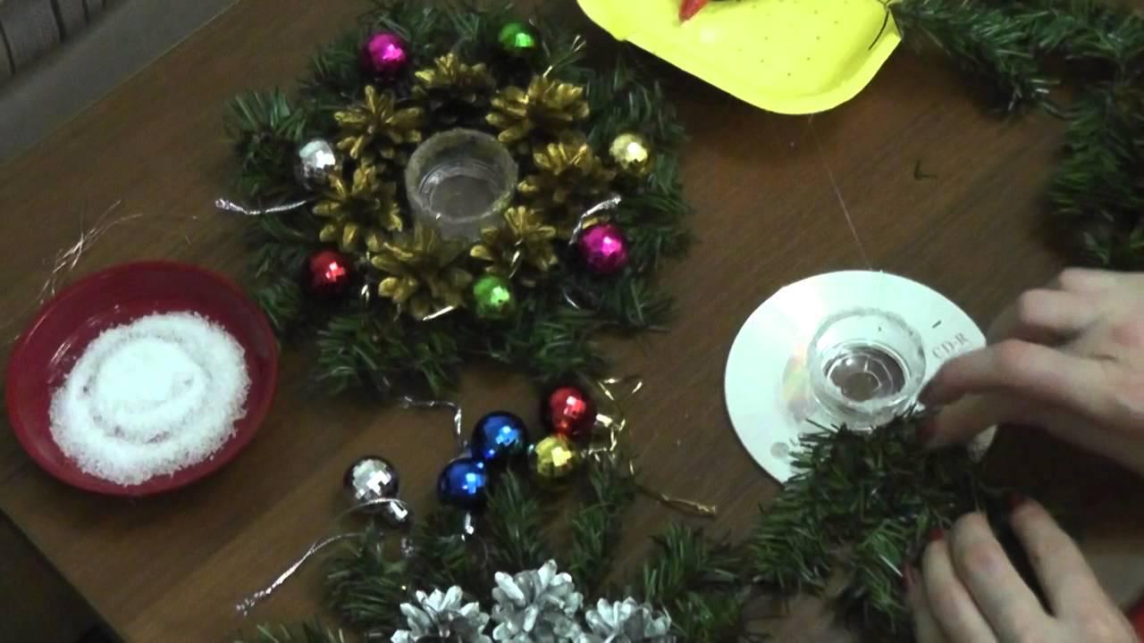 Новогодний подсвечник своими руками видео фото 487