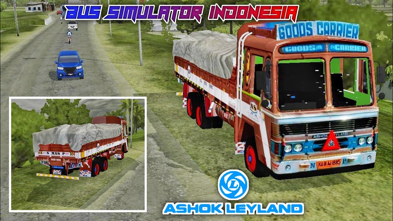 Ashok Leyland Indian Truck Mod Review For Bus Simulator Indonesia Youtube