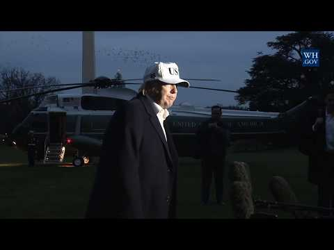 President Trump Delivers a Statement Upon Arrival