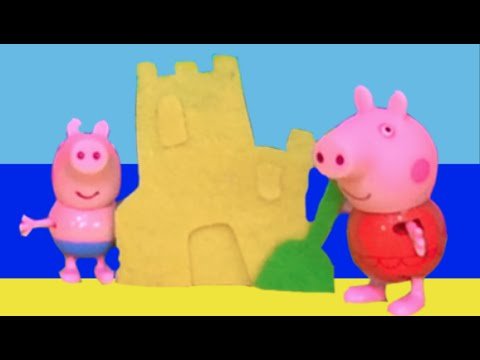 Peppa Pig 2015 New Toys English Episodes - Peppa Pig Swimming on Holiday at the Beach! HD Video!