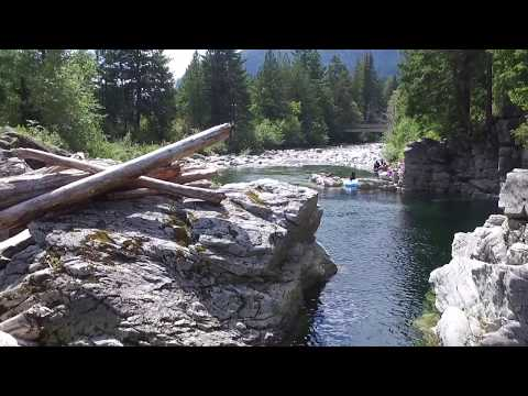 A quick dive in the Heber River, British Columbia