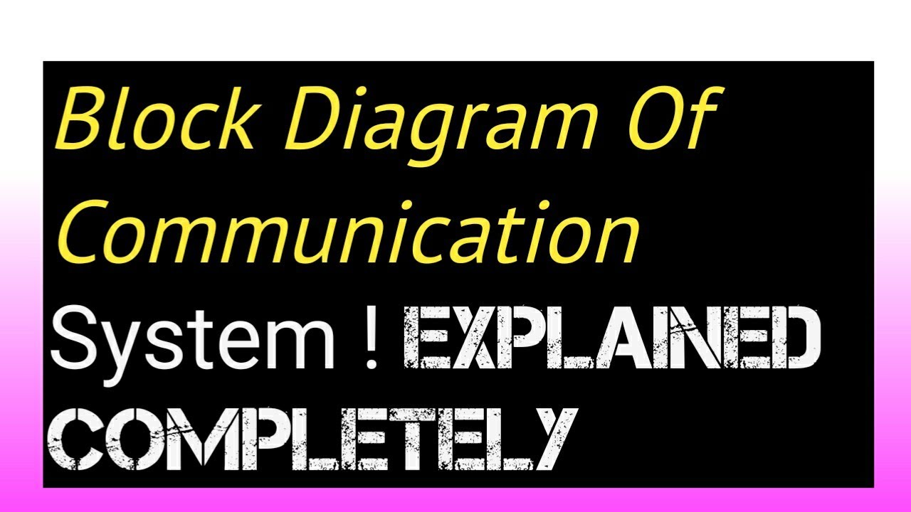 Block Diagram Of Communication System   Complete