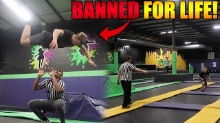 breaking all the rules at skyzone banned