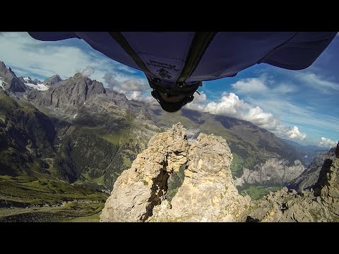 Wingsuit Flyer Shoots The Gap Through Insanely