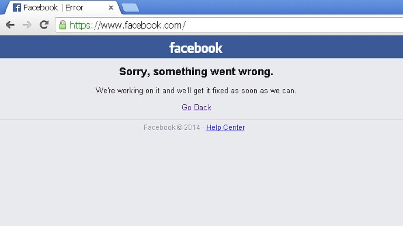 حل مشكلة موقع فيسبوك Sorry Something Went Wrong مستقبلا Youtube