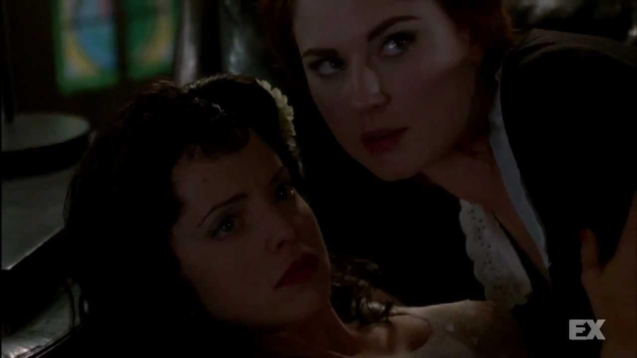 "American Horror Story Moira And Elizabeth tv] sexy ""american horror story"" alumna joins witches ""coven"