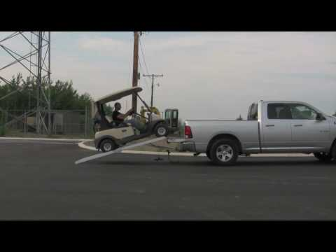 Load golf carts more safely with loading ramps by LongRamps.com