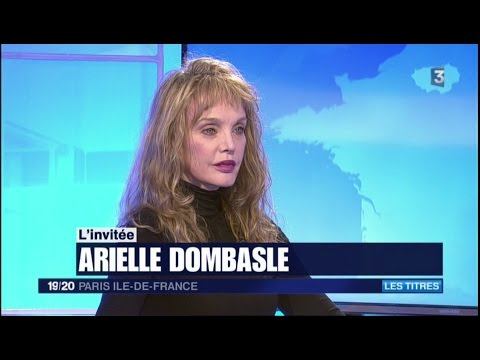 Arielle Dombasle - France 3 JT IDF : Interview (29 avril 2017)