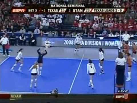 Stanford vs. Texas - 2008 NCAA Women's Volleyball National Semifinals