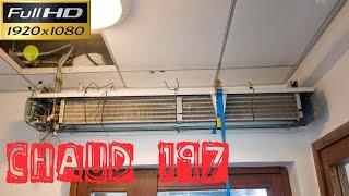 Chaud197-Le remplacement du bloc moteur et turbines d'un rideau d'air chaud