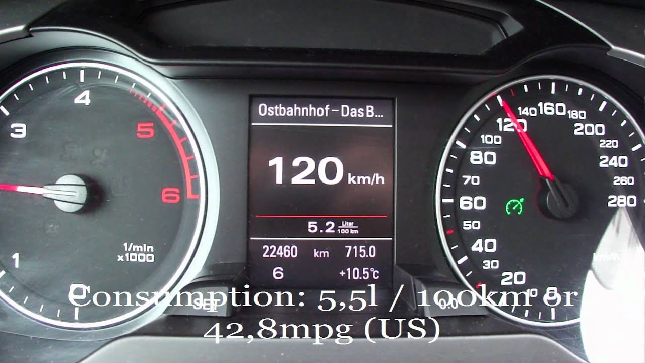 2012 Audi A4 2 0 TDI Avant Fuel Consumption Test