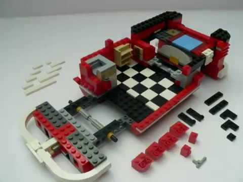 lego 10220 volkswagen camper vw bus t1 stop motion aufbau. Black Bedroom Furniture Sets. Home Design Ideas
