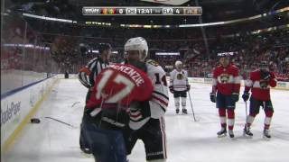 2 Blackhawks and 2 Panthers drop the gloves
