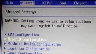 Keyin bo'yicha kuch avtomatik kuchini yo'qotish BIOS