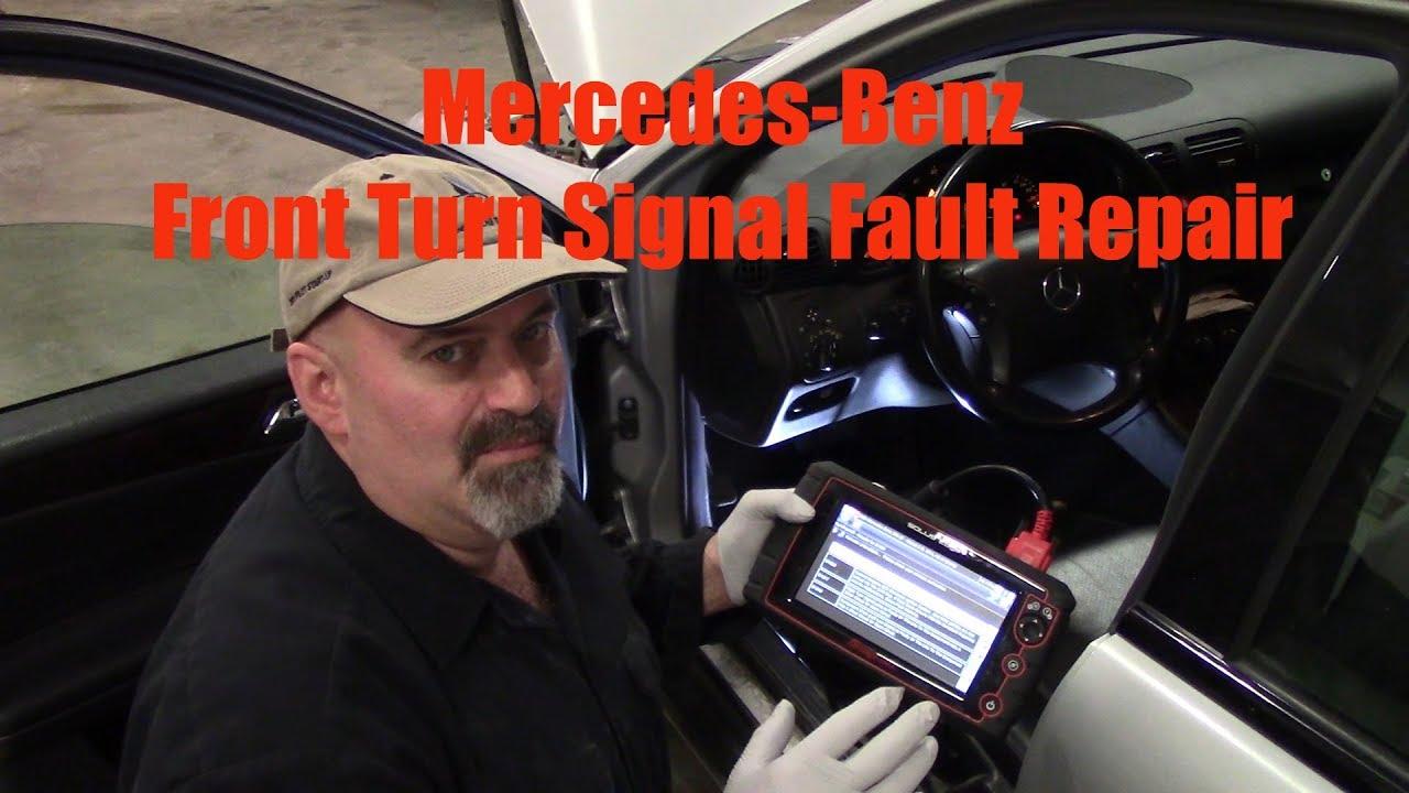 Mercedes Benz Front Turn Signal Wont Function Youtube 2001 Slk230 Fuse Diagram
