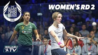 Squash: Allam British Open 2018 - Women\'s Rd 2 Roundup [Part 2]