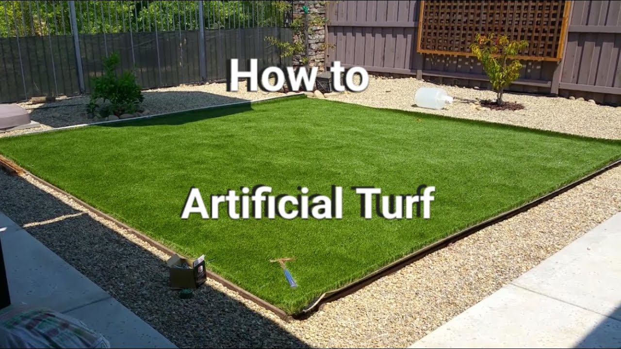artificial turf installation save money do it yourself youtube