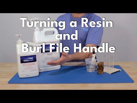 Turning an Epoxy Resin Burl File Handle