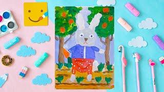 Как нарисовать зайца - урок рисования для детей 4-7 лет. Дети рисуют зайчика поэтапно