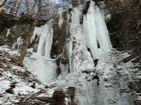 Ice waterfall, Liechtenstein