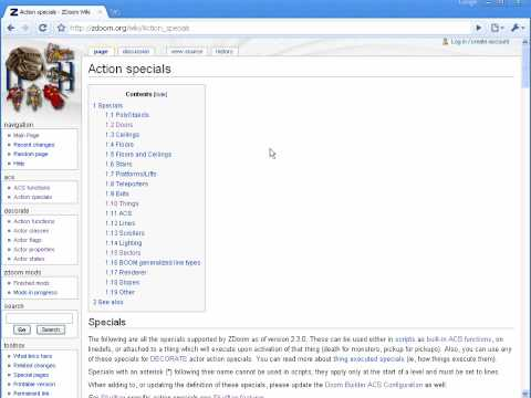 Using The Zdoom Wiki For Action Specials.