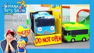 Tayo Got Stuck In A Box! L Hana'S Toy Show L Hana The Mechanic L Tayo Toy Play
