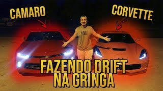 DRIFT COM CAMARO E CORVETTE NA MADRUGADA /Gaba\