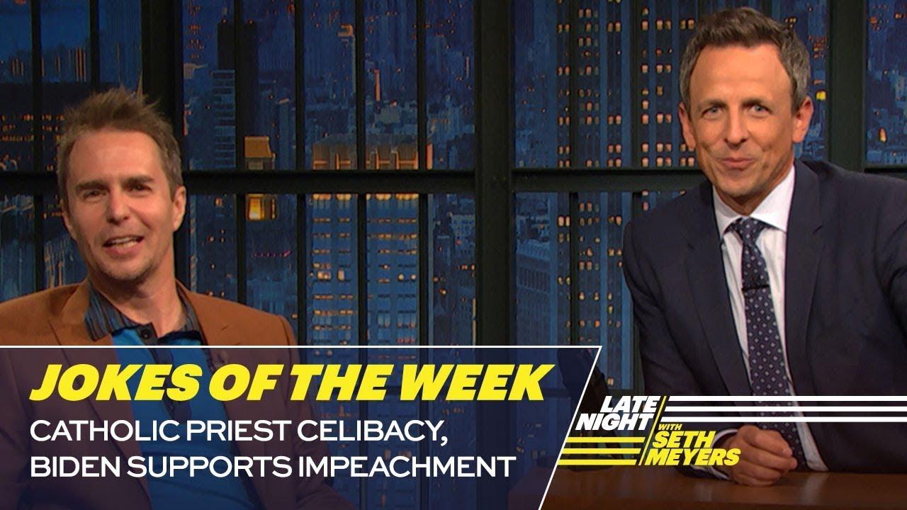Seth's FavoriteJokesoftheWeek: Catholic Priest Celibacy, Biden Supports Impeachment