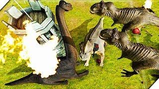 НАПАДЕНИЕ ЖИВОТНЫХ НА БАШНЮ.НОВЫЙ РЕЖИМ - Игра Beast Battle Simulator Битва животных и динозавров