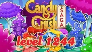 Candy Crush Saga Level 1244 - ★★★