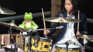 K-ON!! OP Utauyo!!MIRACLE drum cover 叩いてみた Senri Kawaguchi