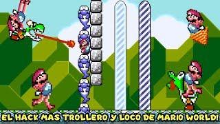 El Hack más TROLLERO y LOCO de Super Mario World !! - Jugando Diagonal Mario 2 con Pepe el Mago (#1)