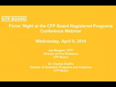 Firms' Night at the CFP Board Registered Program Conference