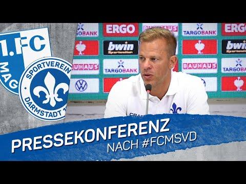 Darmstadt 98   PK nach dem Pokalspiel in Magdeburg