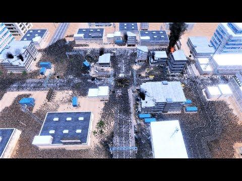 45 000 World War Zs vs 300 US Marines Ultimate Epic Battle Simulator