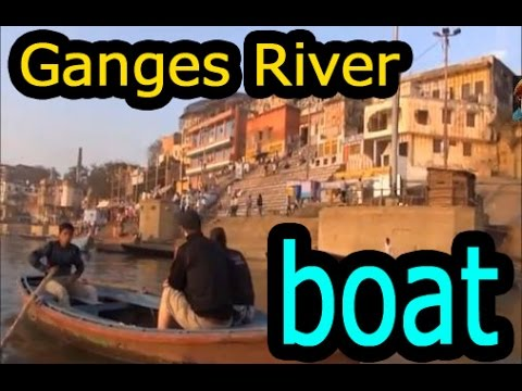 【インド動画】Varanasi india Ganges River view from the boat  インド バ