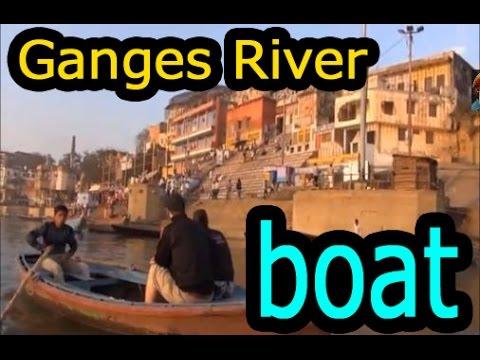【インド動画】Varanasi india Ganges River view from the boat  インド バラナシのガンジス川の船の上からの眺め