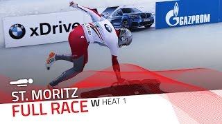 St. Moritz | BMW IBSF World Cup 2016/2017 - Women's Skeleton Heat 1 | IBSF Official