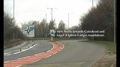 Gateshead Councils Bus Lane Bollards create a Safety Hazard for Cyclists, Birtley.17th March 2013