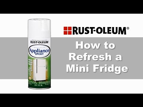 How to Refresh a Mini Fridge with Rust-Oleum Specialty Appliance Epoxy Spray Paint