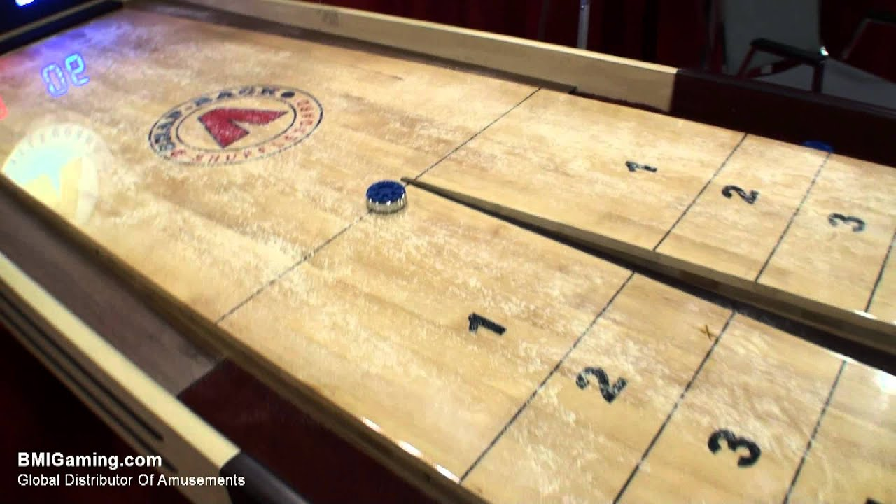 Tavern Snapback Rebound Commercial Quality Shuffleboard Table    BMIGaming.com   Mega Mania   YouTube