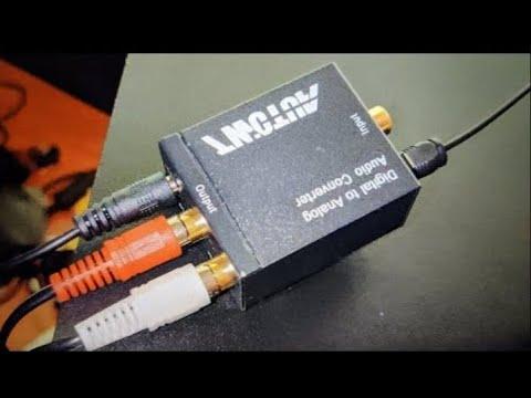 Convertidor de audio digital optico a coaxial y como configurarlo en Tv paso a paso para netflix etc