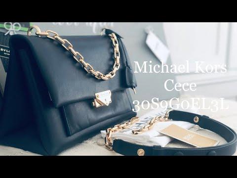 Michael Kors ☜SHOPPING☞ Cece Large Leather Shoulder Bag / 30S9G0EL3L / Admiral