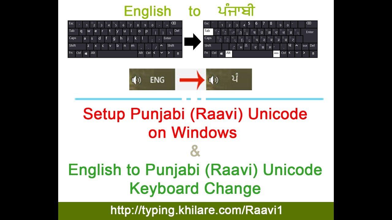 Punjabi Typing Tutor - Raavi Font