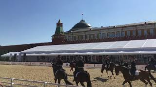 конный манеж на Красной площади.KREMLIN,RUSSIA 2018 год Dance of the horses!